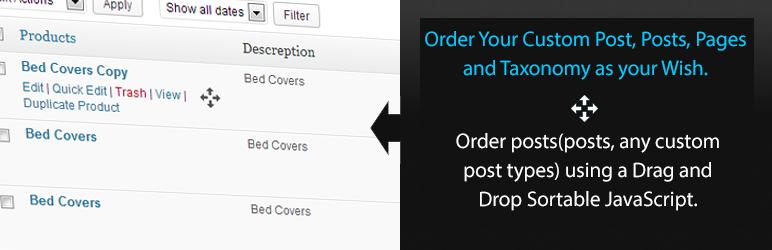 WordPress 网站文章、分类实现自定义排序插件:Simple Custom Post Order