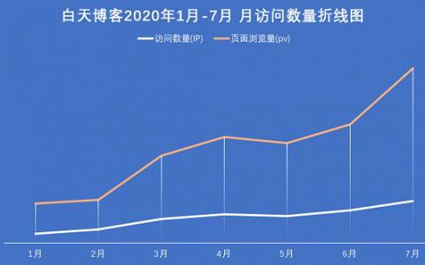 迟来的上半年总结,白天博客2020年度上半年大数据统计